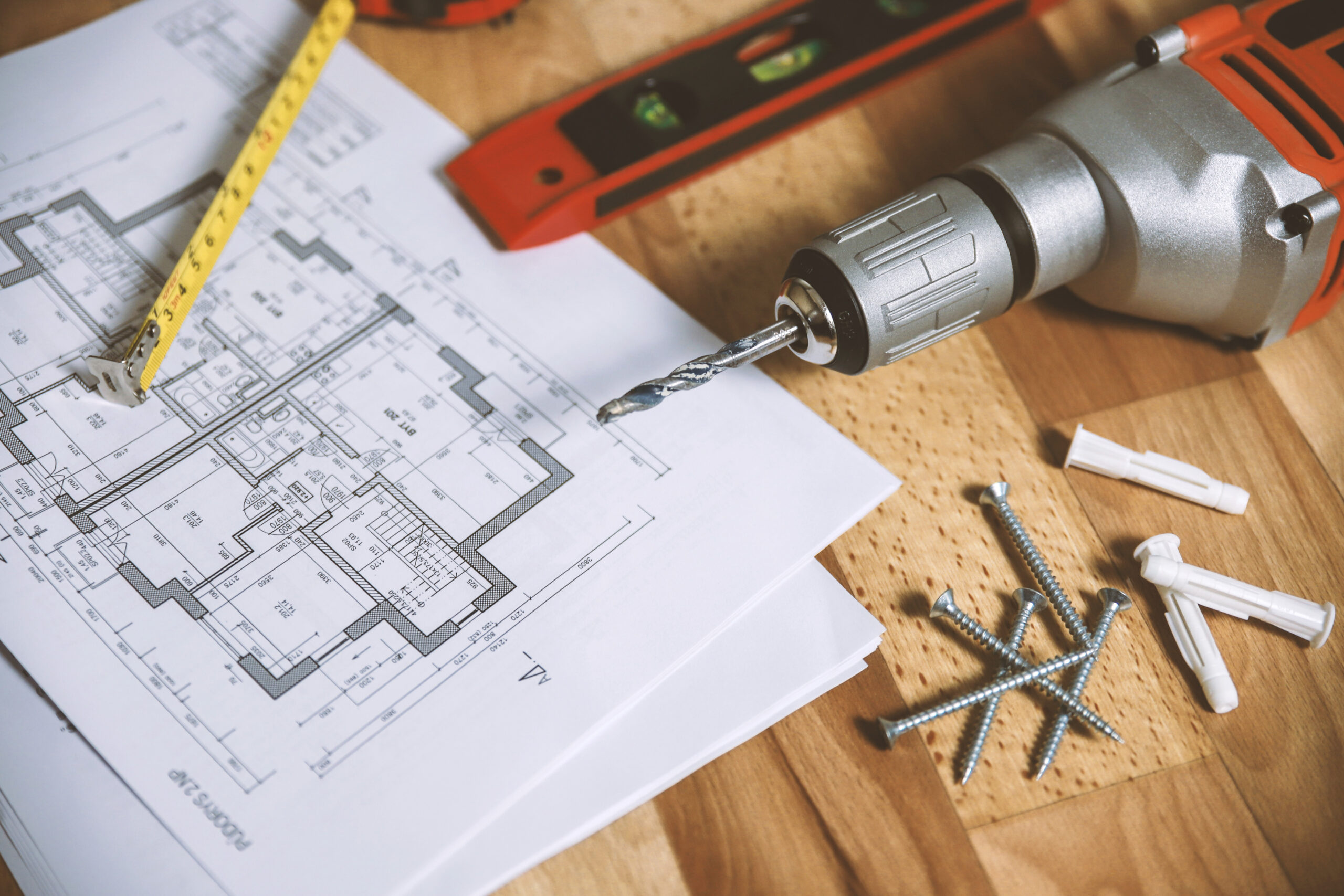 House Floor plan on a table