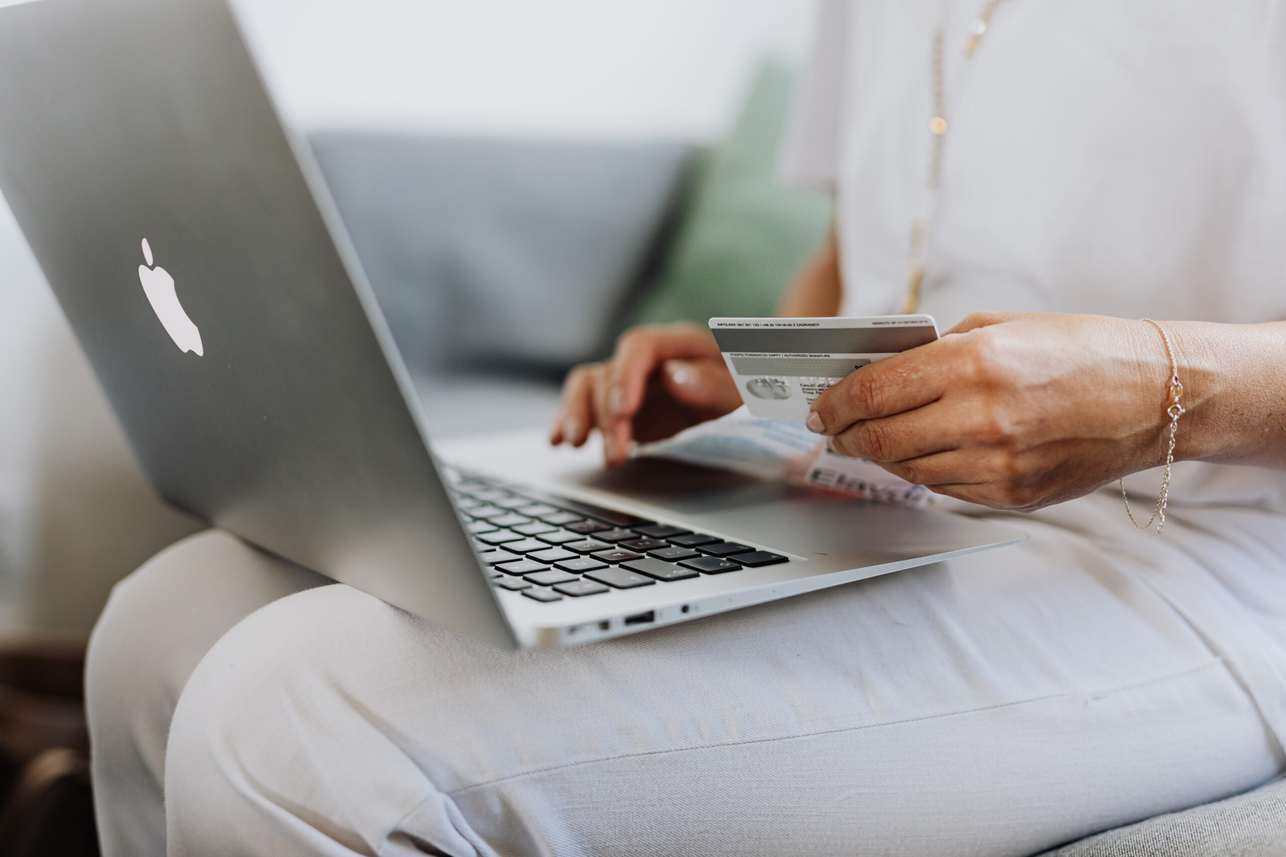 Person buying online with credit card