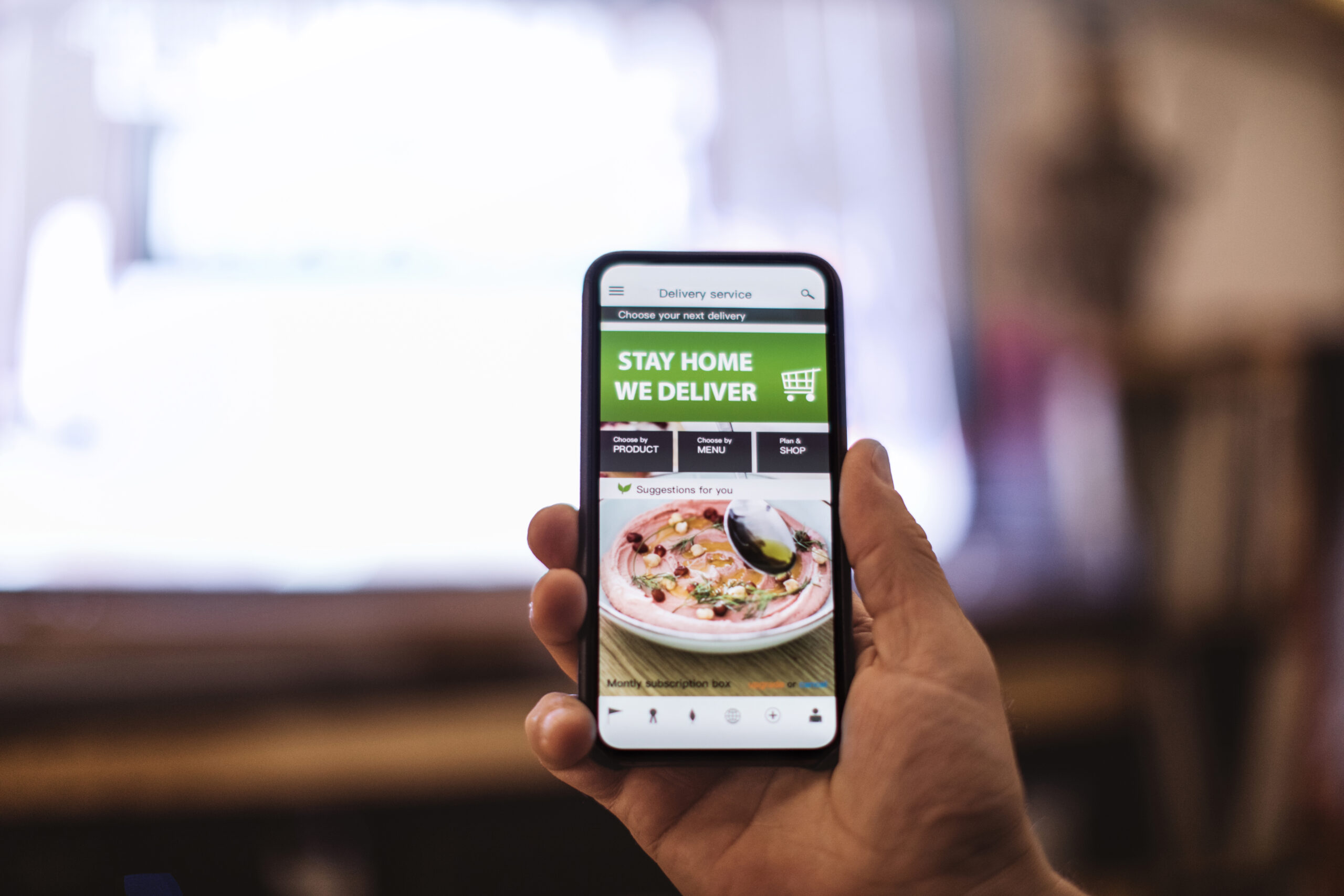 Ordering food online at night while in home isolation during corona virus quarantine